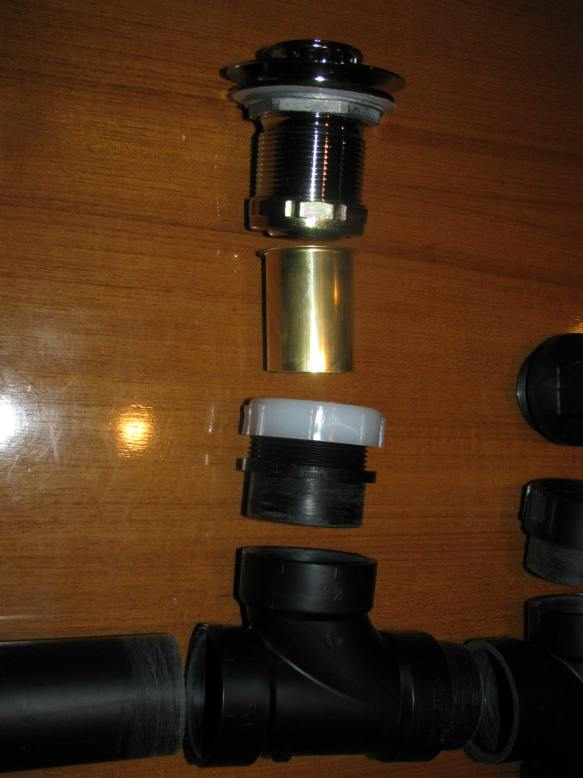 Right Basin Drain Components Close Up